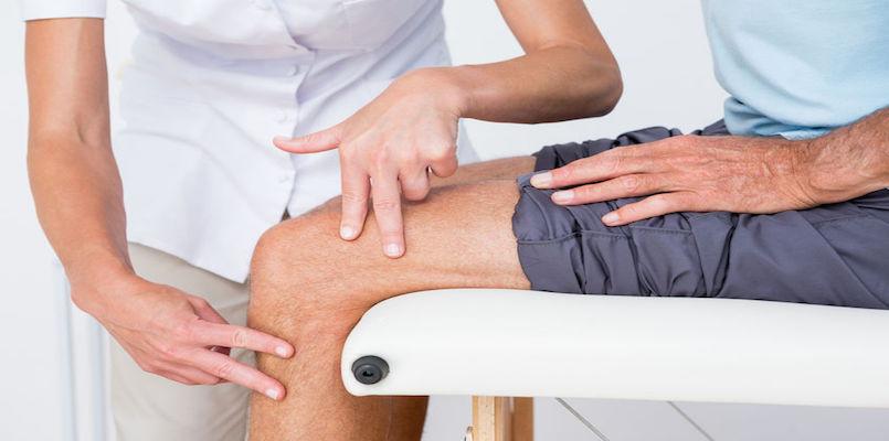 Knie TEP Arthrose Orthopädie Arzt Patient